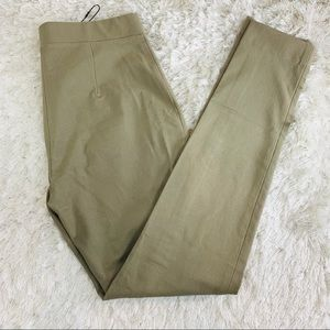 Theory NWT Army Green Stretch Trouser Legging Sz 4